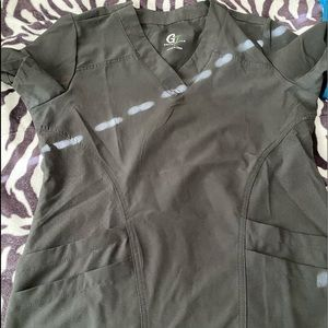 GT Performance Black Scrub Top